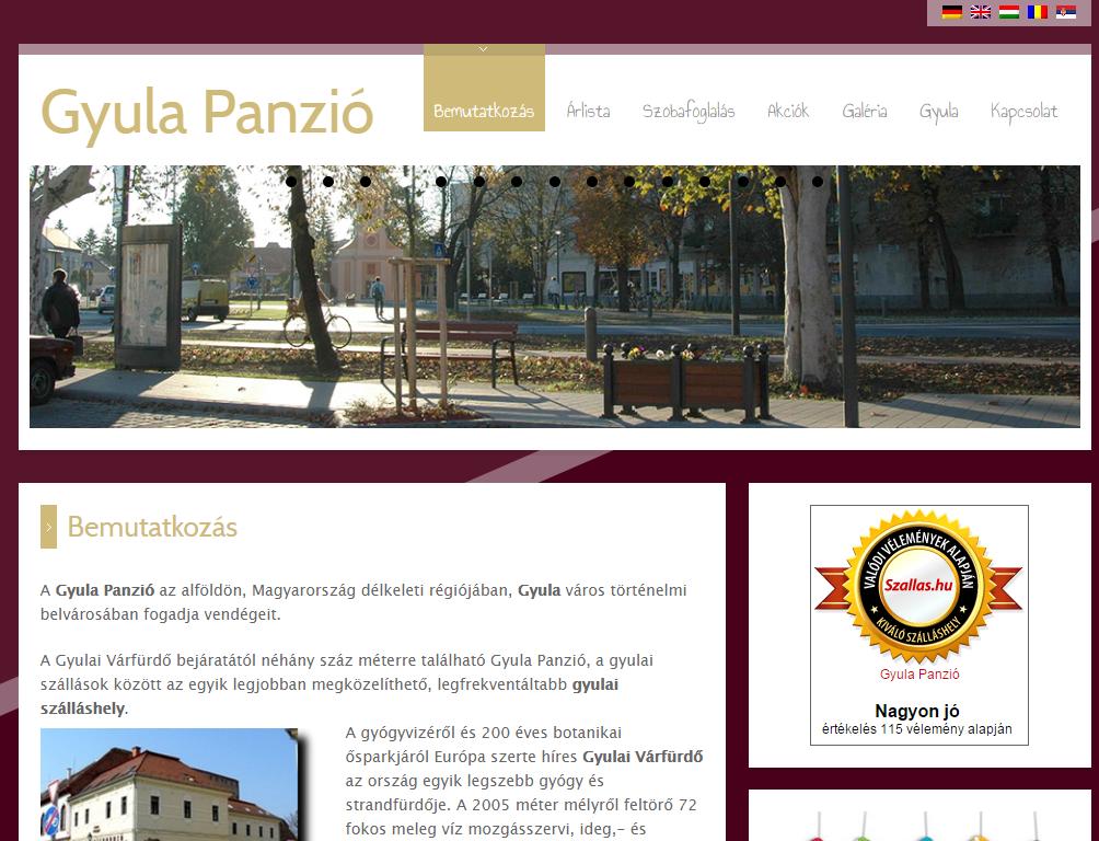 gyulapanzio.hu történelmi szálláshely